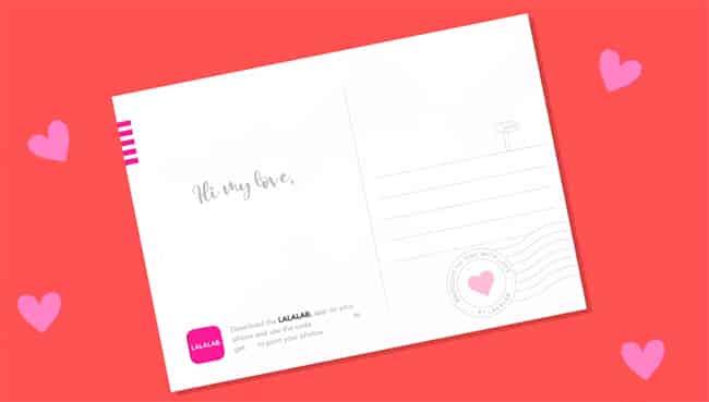 Spread The Love LALALAB : carte personnalisable gratuite