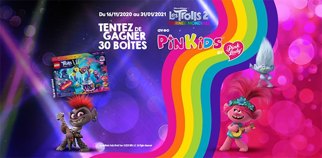 Remportez votre boîte LEGO Trolls avec le jeu Pinkids