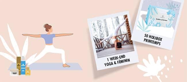 Remportez un week-end Yoga & Féminité ou un coffret de produits Auriège