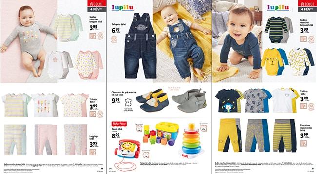 Gigoteuses, chaussons, langes et vêtements Lupilu pour bébé