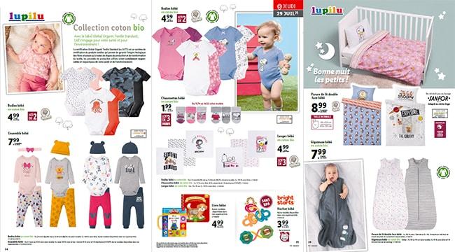 Gigoteuses, parures de lit, langes et vêtements Lupilu pour bébé à petits prix chez Lidl