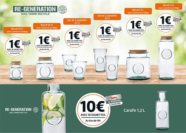 bocal et gobelets Regeneration Netto : La collection