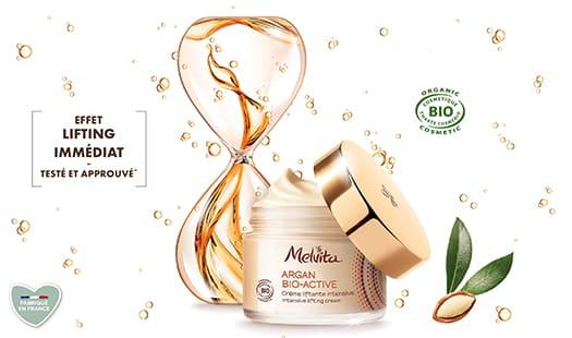 échantillon de la crème liftante Intensive d'Argan Bio-Active de Melvita