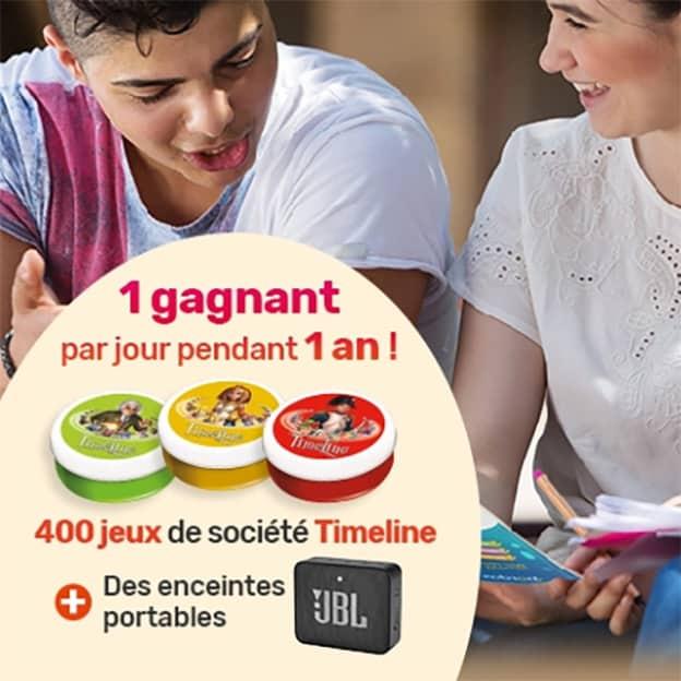 Jeu Bordas : enceintes JBL et jeux Timeline à gagner