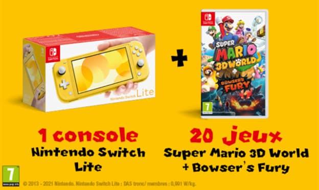 Jeu Journal de Mickey : Nintendo Switch Lite et 20 jeux Mario
