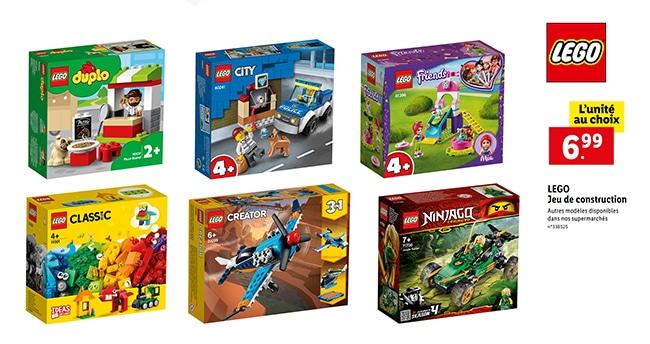 Boîte de LEGO à petit prix chez Lidl