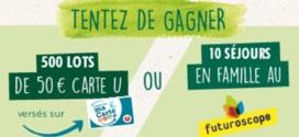 Magasins U Jeu Arbre Vert : 10 séjours et 500 lots de 50€