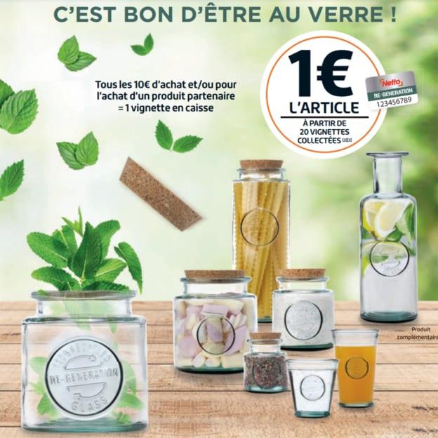 Netto : Vignette R-Génération pour bocaux en verre à 1 euro