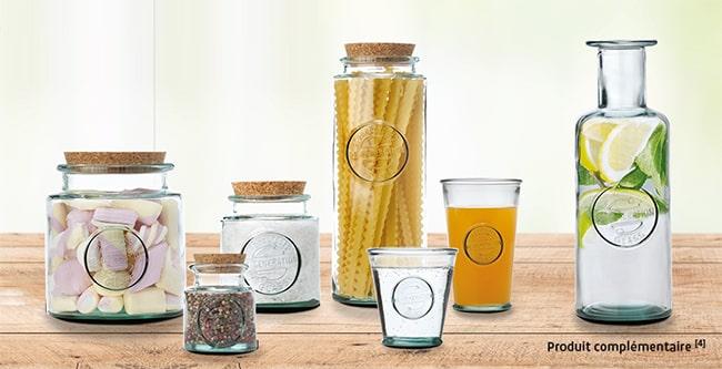 Produits en verre 100% recyclé et recyclable Re-Generation