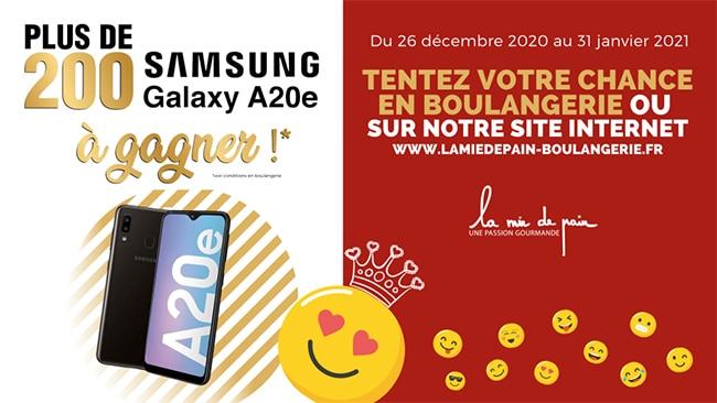 Remportez un Samsung Galaxy A20e avec La Mie de Pain