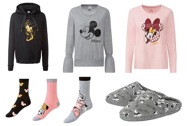 Collection de vêtements Disney à petit prix : sweat, t-shirt, chaussettes Minnie chez Lidl