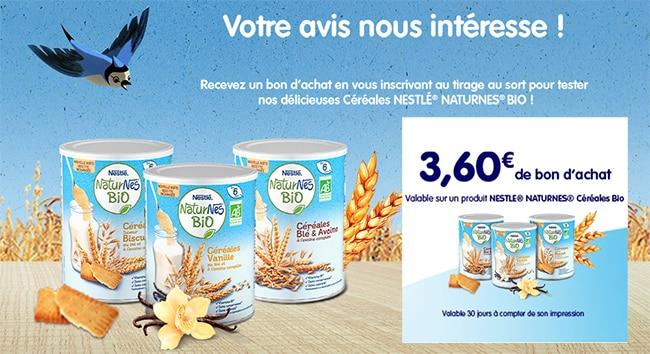 Testez les céréales Bio NaturNes de Nestlé