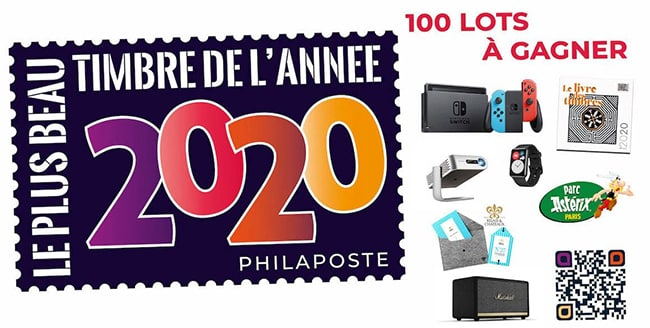 jeu de l'élection du timbre 2020