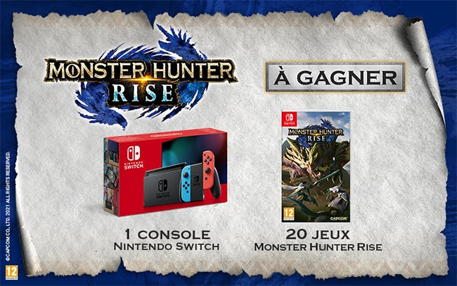 remporter la Nintendo Switch ou un jeu Monster Hunter Rise