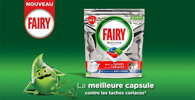 Testez gratuitement les capsules pour lave-vaisselle PEPS Platinium+ Fairy avec TRND