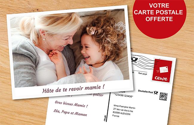 Envoyez gratuitement une carte postale personnalisé Cewe