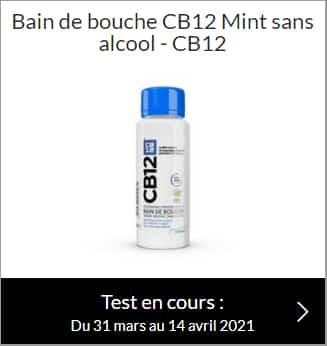testez le bain de bouche CB12 Menthe sans alcool