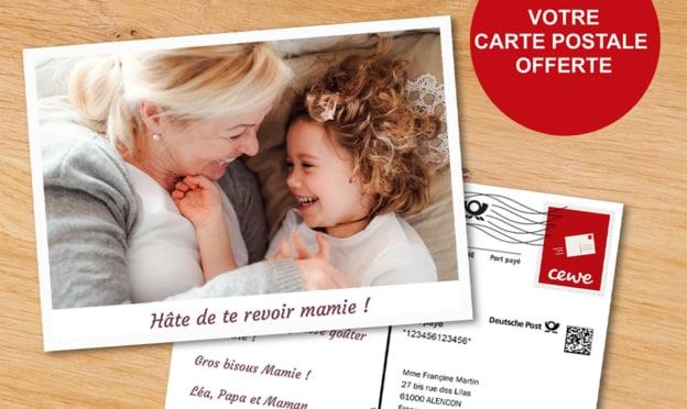 Bon plan Cewe : Carte postale personnalisable gratuite