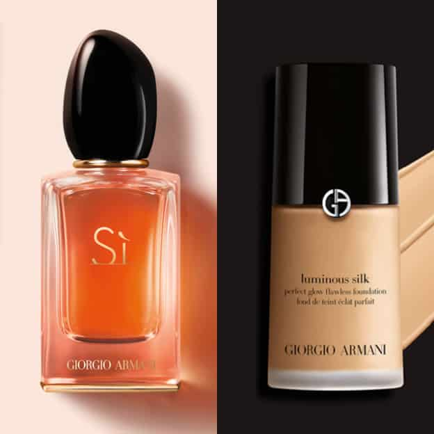 Échantillons gratuits Giorgio Armani : Parfum Si + fond de teint