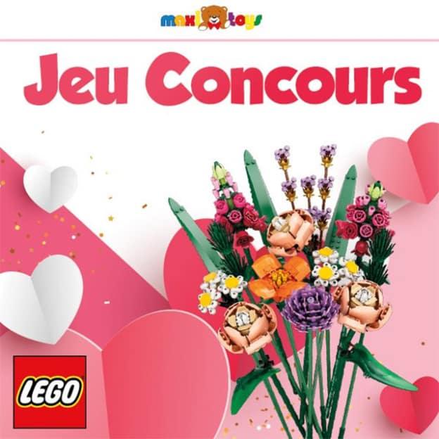 Jeu Maxi Toys : bouquets de fleurs LEGO à gagner
