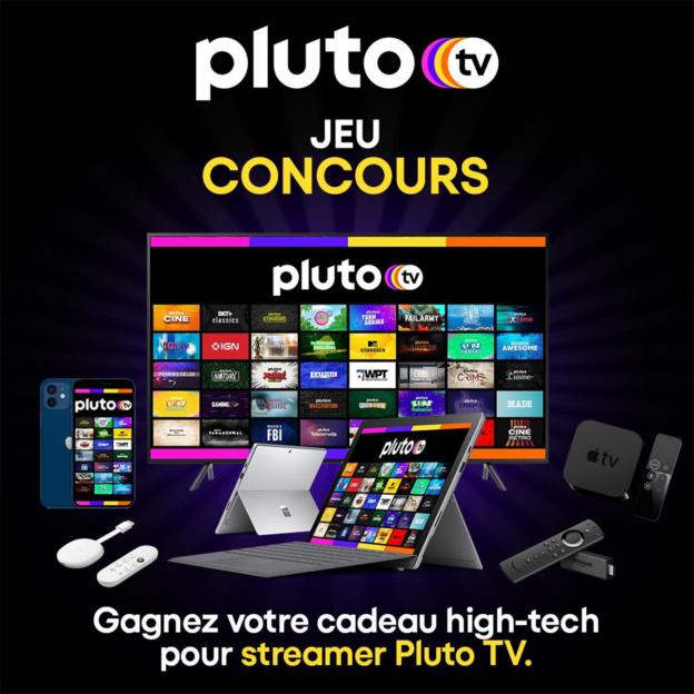 Jeu Pluto TV : iPhone et autres produits high-techs à gagner