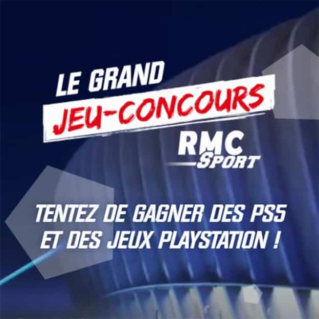 Jeu RMC Sport : PlayStation 5 et jeux vidéo à gagner