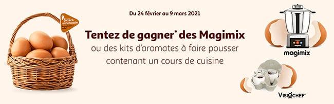 Robots Magimis et Kits d'aromates + cours de cuisine en lignes à remporter avec Auchan