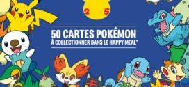 Cartes Pokémon à collectionner offertes avec le Happy Meal de McDo