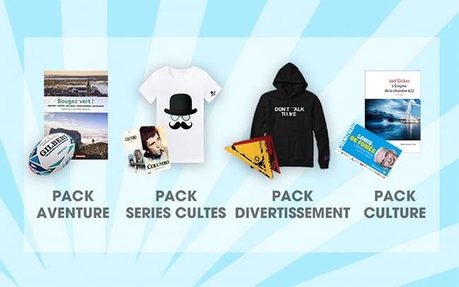 Remportez un pack Aventure, Divertissement, Culture ou Série Culte avec le jeu TF1 & Vous