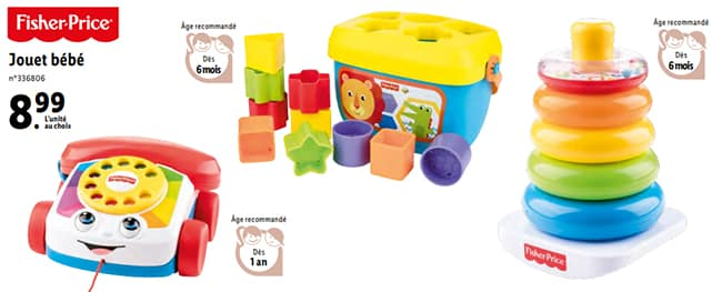 Jouets bébé Fisher-Price à petit prix dans les supermarchés Lidl