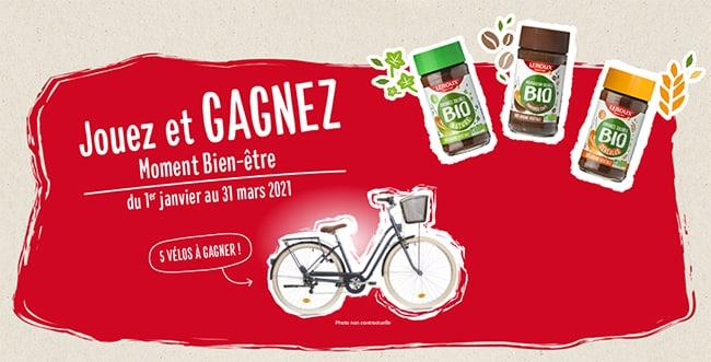 Remportez un vélo de ville Elops 520 avec le concours « Moment Bien-être » de Leroux