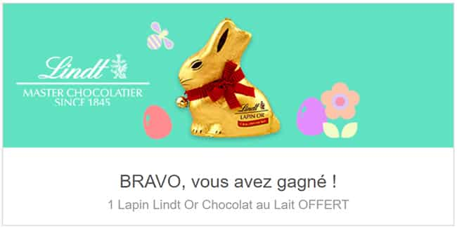 Cadeau Shopmium : Lapin en chocolat Lindt remboursé