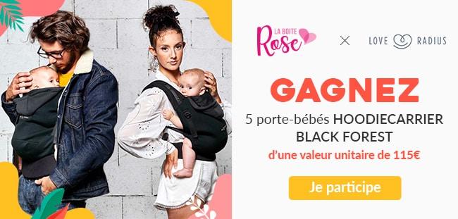 Remportez un porte-bébé HoodiesCarrier Love Radius avec La Boîte Rose