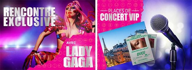 Cadeaux Lady Gaga du jeu Sing With Oreo
