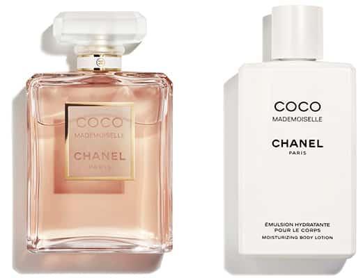 2 échantillons Chanel Coco Mademoiselle (l'eau de parfum et l'émulsion)