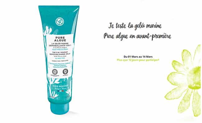 Testez gratuitement la Gelée Marine Démaquillante 3en1 d'Yves Rocher