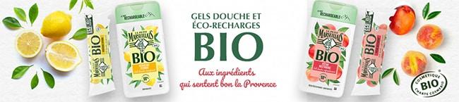 tester gratuitement deux gels douche et une éco-recharge bio Le Petit Marseillais