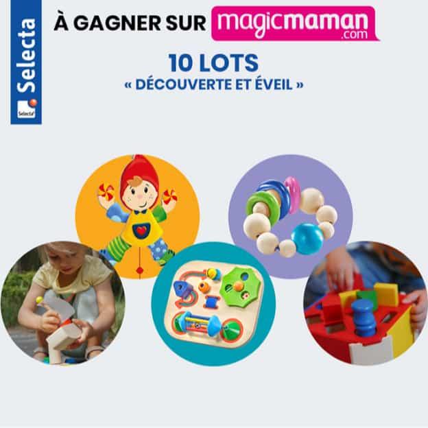 Jeu Magicmaman : lots de jouets en bois Selecta à gagner