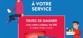 Jeu Cora A votre service : 10 cartes cadeaux de 50€ à gagner
