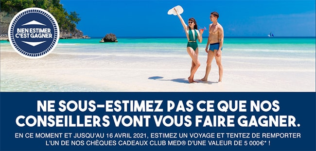 gagnez 5'000€ en chèques cadeaux Club Med avec Guy Hoquet