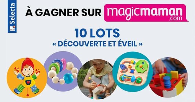Tentez de gagner des jouets en bois Selecta avec le jeu Magicmaman