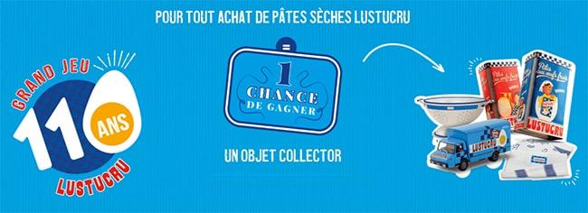 Tentez de remporter des objets collector vintage avec les pâtes sèches Lustucru