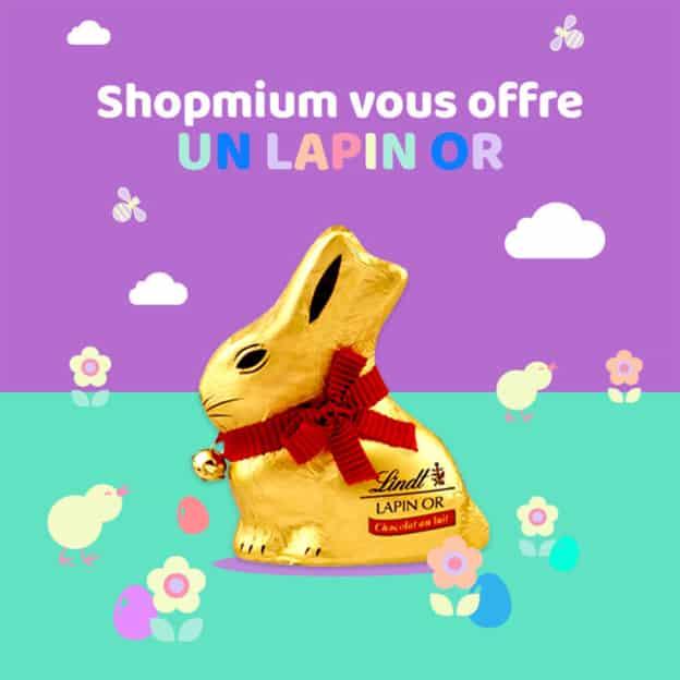 ODR Shopmium : Lapin Or Lindt gratuit car 100% remboursé