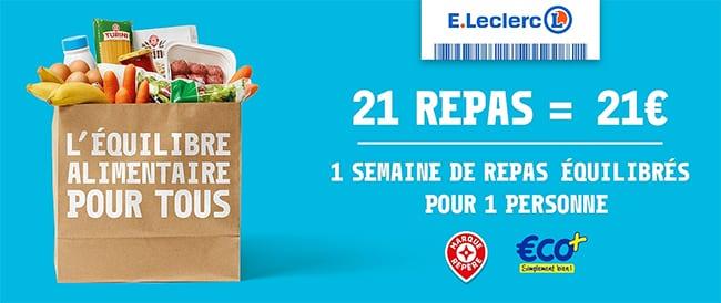 panier repas Leclerc à 21€