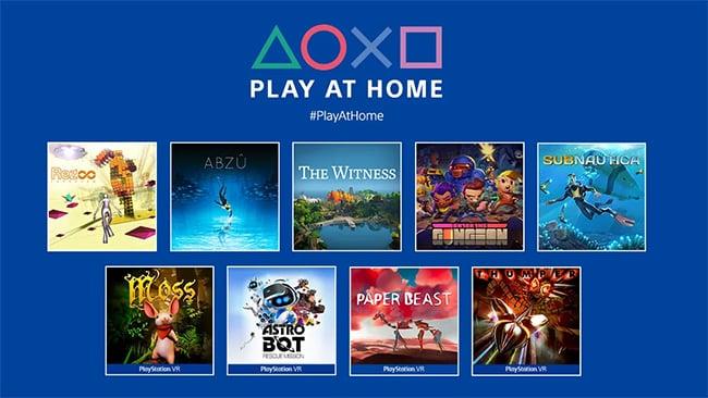 Play at Home édition 2021 : Téléchargez gratuitement des jeux sur PS4 et PS5