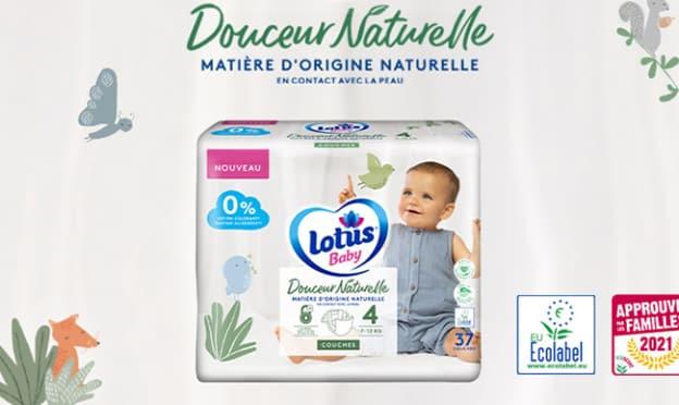 Test couches Lotus Baby Douceur Naturelle : 1800 packs gratuits