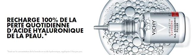 remportez votre dose d'essai du sérum HA Epidermic Filler Vichy
