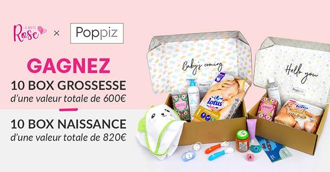 Gagnez un coffret grossesse ou une box naissances Poppiz avec La Boîte Rose