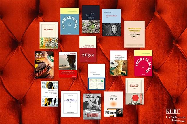 Les livres à gagner au grand jeu Sélection Goncourt de Kube