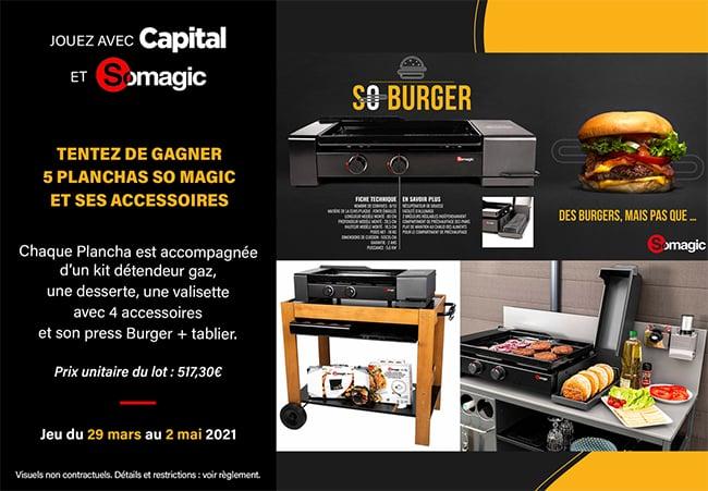 Tentez de remporter un ensemble Plancha So Burger avec Capital